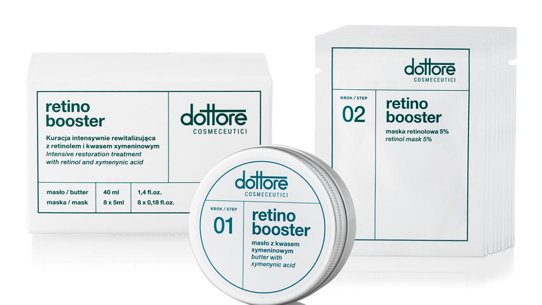 Retino booster czyli kuracja intensywnie rewitalizująca  z retinolem i kwasem xymeninowym